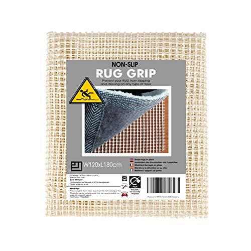 Rug Grip Teppichunterlage, rutschfeste Unterlage, 120 x 180 cm, rutschfester Teppich-Greifer, PVC-Schaum-Material für den Einsatz auf Böden, um Teppiche und Matten an Ort und Stelle zu halten.
