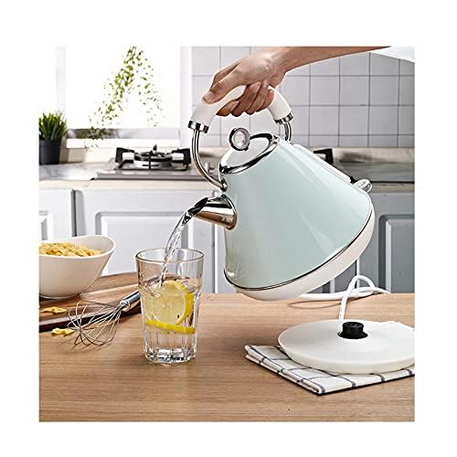 LLSL Hervidor eléctrico, té y cafetera Calefacción de tazón 3041 Acero Inoxidable para Evitar Que se quemen la protección 1.8L,Azul