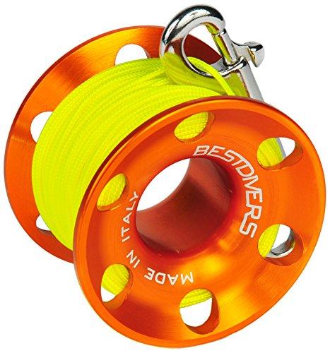 Best divers ml0087, Carrete Buceo Unisex–Adulto, Naranja, 30m