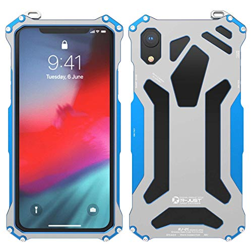 iPhone Xs Max Case,Simicoo iPhone Xs Max Aluminum Metal Full Body Rugged Military Shockproof Bumper Heavy Duty Armor Defender Tough Case for iPhone Xs Max 6.5 inch 2018 (Blue, iPhone Xs Max 6.5inch)