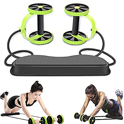 WENSUNNIE New Strong Ab Roller Wheel - Multifunctional Ab Workout Equipment- Ab Exercise Equipment for Abdominal Exercise Core Wheels Ab Trainer for Men & Women Machine at Home