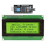 ALAMSCN IIC I2C TWI Serial 2004 20x4 Character LCD Module Shield Display Panel Screen for Arduino R3 MEGA2560 Green Backlight