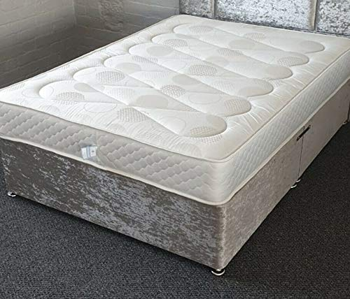 Selsie Sleep 4ft6 Bed Double Mattress 8 to 9 Inch Deep 13.5 Open Bonnell Coil Spring Mattresss With 12.5mm Memory with fillings of polyester & insulating pads Approx 135 x 190cm (4ft6 x 6ft3)
