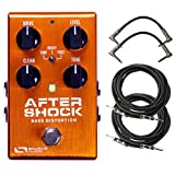 Source Audio One Series AfterShock Bass Distortion Effects Pedal Bundle with 4 Free Cables