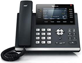 Yealink SIP-T46S IP Phone, 16 Lines. 4.3-Inch Color Display. Dual-Port Gigabit Ethernet, 802.3af PoE, Power Adapter Not Included