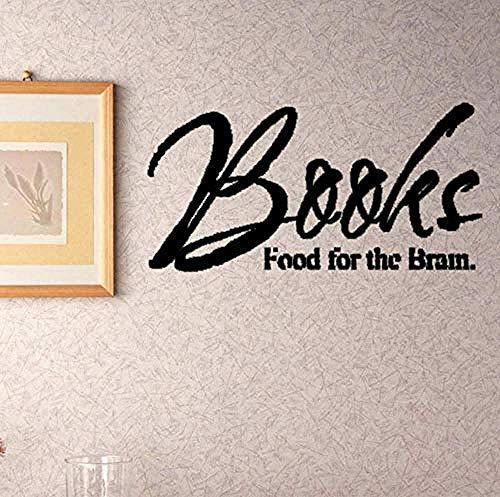 Boeken Voedsel voor de hersenen vliegtuig muur Sticker voor kamer brieven Home decoratie Accessoires Muurdecoratie Stickers 118X59Cm
