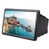 VBESTLIFE 12 Zoll Handy 3D Bildschirmlupe Smartphone Vergrößerungsglas, Vergrößerer Bildschirm, Lupe 3D Film Video Bildschirm Verstärker Schützen Augen mit Reinigungstuch für iPhone(schwarz)