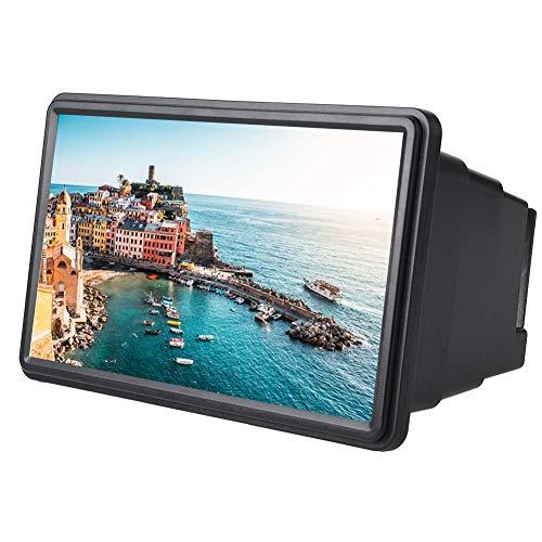 VbestLIFE 12 inch mobiele telefoon 3D beeldschermvergrootglas smartphone vergrootglas, groter scherm, vergrootglas 3D-film videoscherm versterker ogen met reinigingsdoekje voor iPhone