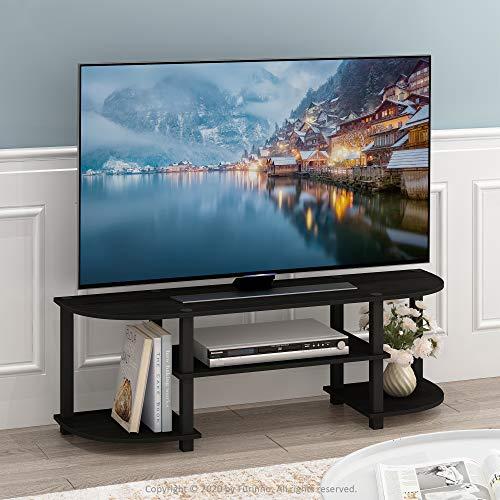 Furinno Turn-S-Tube Wide TV Entertainment Center, Espresso/Black