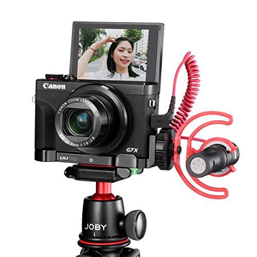 UURig C-G7X Mark III Vlog-Halterung für Canon Vlog-Kamera G7X Mark III, Handheld-Handgriff mit Mikrofon/LED-Licht Kaltschuhverlängerung, Stativkopf