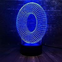 3DLedランプ常夜灯アルファベット文字O多色テーブル電球USBタッチチャイルドギフトホーム装飾
