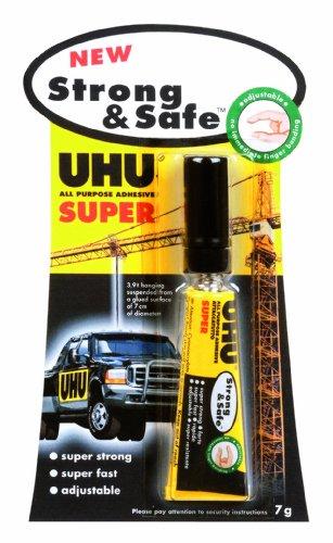 UHU 39722 Strong and Safe Alleskleber, 12 Stück, 7-g-Tube