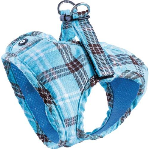 Komfortables Hundegeschirr Scottish Türkis XXS-M, Größe:XS