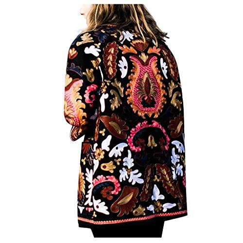 Toasye Elegant Bedruckter Langarmmantel FüR Damenmode Frauen Vorne Offen Bedruckte Strickjacke Anzug Langarm Streetwear Bluse Mantel