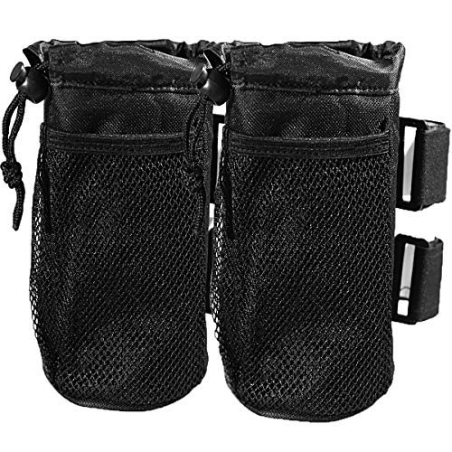 Rudyness 2-Pack Bar Cup Holder for Stroller Bike and Wheelchair Universal Cup Holders for Motorcycle UTV/ATV Car Scooter Boat Drink Holder