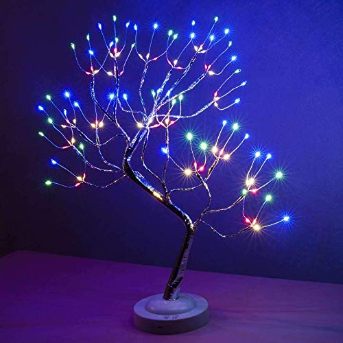 Lighted Tree Led Bonsai String Light Battery/USB Operated Tree Lights for Indoor Decoration and Gift
