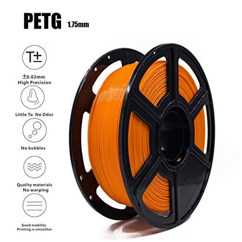 3D Printer Filament 1.75mm 1kg Orange PETG 3D Filament Consumables 1KG/2.2LBS Non-Toxic Eco-Friendly Consumables for Most 3D Printers
