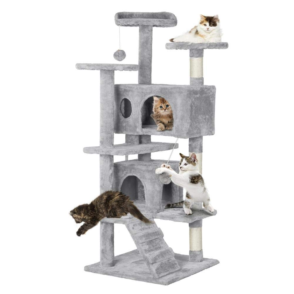 Topeakmart Multi Level Scratching Activity Kittens