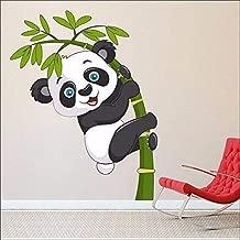 WOW Interiors Removable Panda Environmentally Mural Wall Stickers (Multicolour, PVC, Medium)