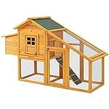 CooFel Jaula para conejos, conejos, conejos, conejos, cobayas, con techo de...