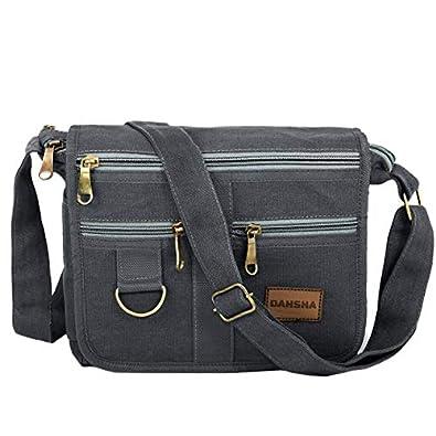 DAHSHA Stylish Cotton Sling Cross Body Travel Office Business Messenger one side Shoulder Bag For Men Women (24x8.8x21.5cm)