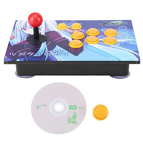 Arcade Stick PC USB Joystick, Tasten Controller Ohne Verzögerung 8 Richtungen Joystick Steuergerät für PC Win7 / Win8 / Win10
