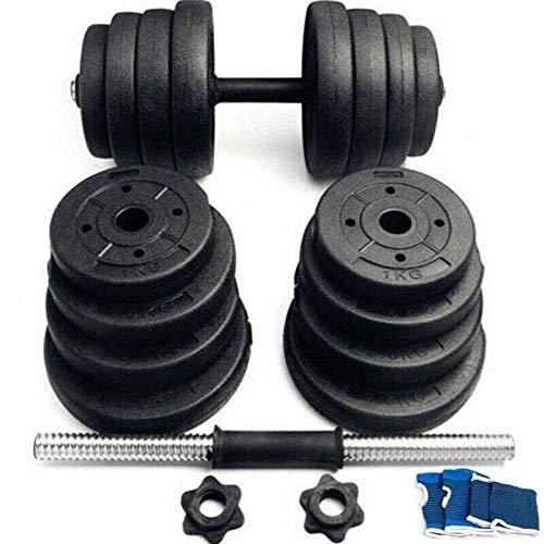 Hantelset 30kg | Kurzhantel Set mit 2 Kurzhanteln 25 mm gerändelt, 16 Gewichte und Sternverschlüsse | Kurzhantelset Hantel Kunststoff Bodybuilding Gewichte (30)