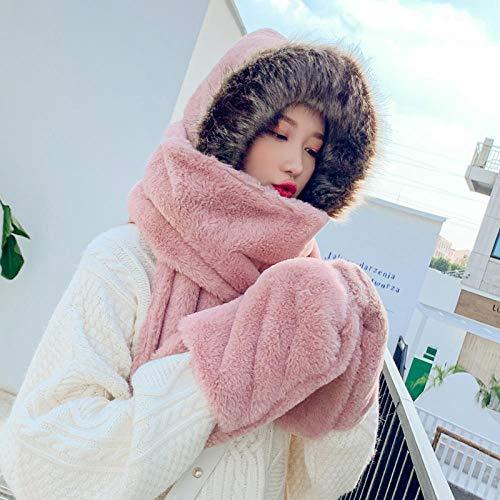 lxylllzs Wintermütze Mütze warmmodern,Plüschmütze, Handtuch, eine Dicke warme Mütze-Pink, warm gefütterte Wintermütze