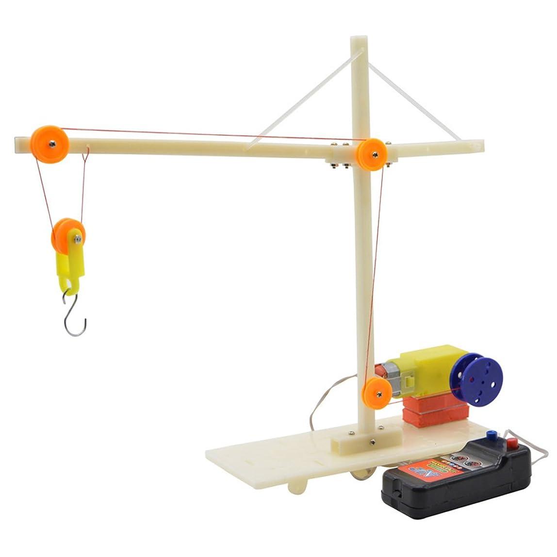 バック繁殖粘り強いPerfeclan クレーン車 電気機械モデル 物理教育 おもちゃ 知育 教育玩具 DIY実験おもちゃ 機械興味