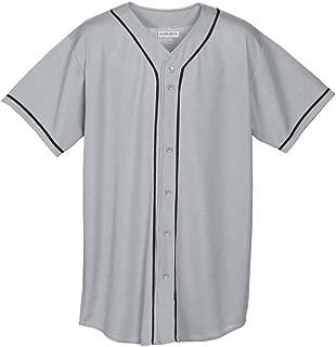 Augusta Sportswear Men's Augusta Wicking Mesh Button Front Jersey with Braid Trim