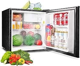 TACKLIFE Refrigerator, 1.6 Cu Ft Compact Fridge with Freezer, Single Door, 37DB Super Quiet, Steel, Black, for Dorm, Office, Garage, Camper, Basement- MPBFR161