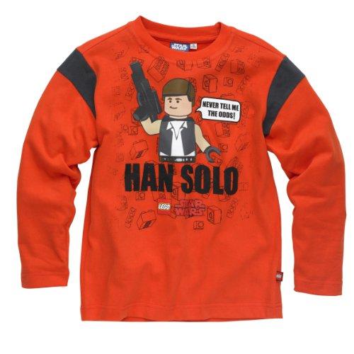 Lego Wear Jungen 13310 Terry 121-T-SHIRT L/S T-Shirt, Orange (342 OrangeRed), 152