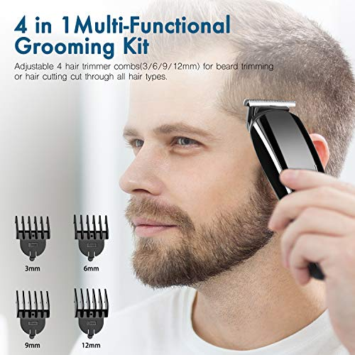 Hair clippers for men, Clippers for hair cutting, Professional 4 in 1 mens hair clippers kit,barber cordless hair cutter Haircut clippers & Nose Hair Trimmer with scissors