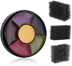 MEICOLY 6 Color Bruise Wheel for Special Effects, Face Body Oil Paint Theatrical Halloween Makeup with 3pcs Stipple Sponges