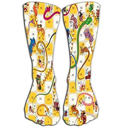 Outdoor Sports Mannen Vrouwen Hoge Sokken Stocking slang ladder bordspel chinese nieuw jaar Goede Tegel lengte 19.7