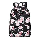 Neuleben Damen Mädchen Schulrucksack mit Blumenmuster Wasserabweisend Rucksack Daypack Schultasche...