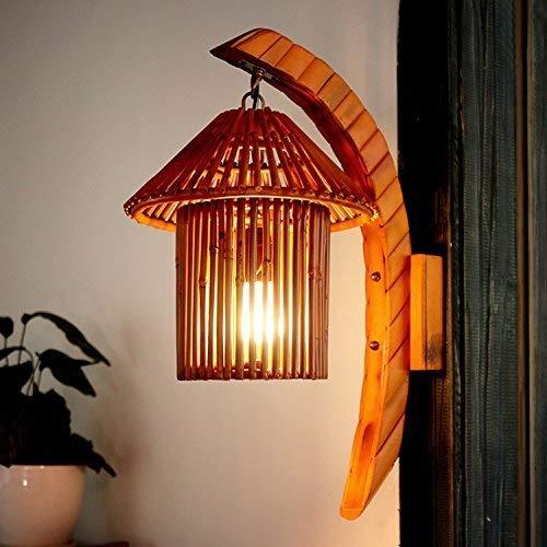 Chef Turk Lámpara De Pared De Bambú Natural/Sudeste De Asia/Cafetería/Lámparas De Bambú/Arte/Granja Inn Lámpara De Pared De Pasillo
