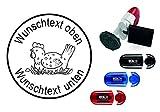 Geocachingstempel « HUHN im NEST » Durchmesser ca. Ø 24 mm - mit persönlichem Cachernamen/Nicknamen - Geocaching Stempel Pocketstempel