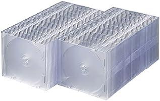 サンワサプライ DVD・CDケース(1枚収納)(クリア) 100枚セット FCD-PU100C