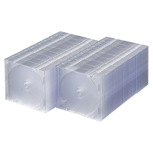 SANWA SUPPLY DVD・CDケース(1枚収納)(クリア) 100枚セット FCD-PU100C