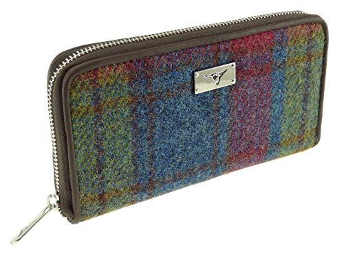 Damen Authentisch Harris Tweed Lang Reißverschluss Geldbörse LB2100 - Farbe 46, 10.5cm H x 19.5cm...