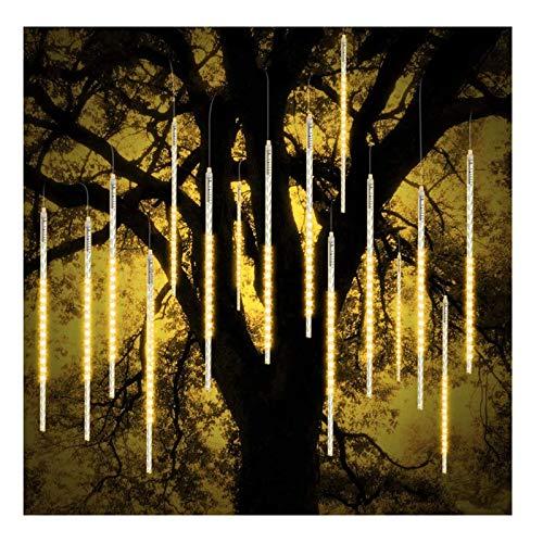 YLLYLL LED Meteor Shower Light Fairy Lights 8 Waterproof Spiral Tubes Waterproof Christmas/Outdoor Garden/House Windows/Christmas Tree Decoration