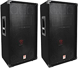 (2) Rockville RSG12 12 3-Way 1000 Watt 8-Ohm Passive DJ/Pro Audio PA Speaker