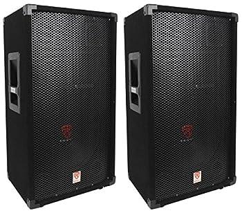 2  Rockville RSG12 12 3-Way 1000 Watt 8-Ohm Passive DJ/Pro Audio PA Speaker