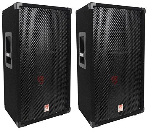 "(2) Rockville RSG12 12"" 3-Way 1000 Watt 8-Ohm Passive DJ/Pro Audio PA Speaker"