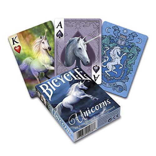 Fournier 1042740 Unicorns, by Anne Stokes Fantasy Poker Kartendeck für Sammler, Mehrfarbig