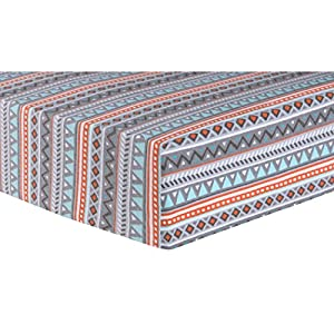 Aztec Deluxe Flannel Fitted Crib Sheet