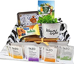Tea gift set | TEA LOVERS Gift baskets | Thinking of you gift basket | Birthday gift basket for women, care package for women, Grandma, Grandpa for Nurse, for her or him a variety tea gift basket