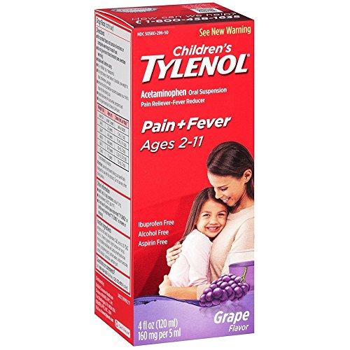 TYLENOL Children's Oral Suspension Grape Splash Flavor 4 oz