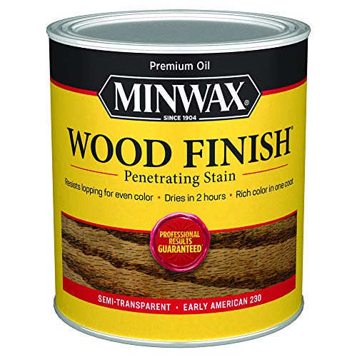 Minwax 70008444 Wood Finish Penetrating  Stain, quart, Early American